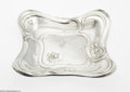 Silver Holloware, American:Bowls, An American Silver Nappy Mark of Simpson, Hall, Miller & Co.,c.1895 The Art Nouveau-style organic square shallow nappy ...