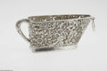 Silver Holloware, American:Other , An American Silver Wine Basket Possibly Howard & Co., New York,NY, c.1900 The openwork floral and leaf pattern basket w...
