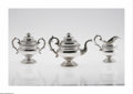 Silver Holloware, American:Tea Sets, An American Silver Tea Service Mark of Marquand & Brother, NewYork, NY, c.1832 The set comprising a teapot, lidded suga... (4Items)