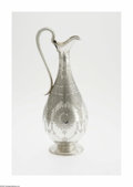 Silver Holloware, British:Holloware, An English Silver Ewer Mark of Frederick Elkington, London,England, c.1874 The footed ewer engraved to depict paisley p...
