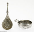 Silver & Vertu:Flatware, An English Silver Tea Caddy Spoon and French Silver Teste Vin. Mark of William Comyns, London, England, c.1890. The Englis... (Total: 2 Items Item)