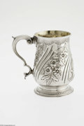 Silver Holloware, British:Holloware, An English Silver Cann Mark of Francis Dexter, London, England,c.1865 The domed foot decorated with an engraved scale b... (1 )