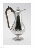 Silver Holloware, British:Holloware, An English Silver Coffee Pot Mark of John Robertson, Newcastle,England, c.1800 The Georgian coffee pot with a floral en...