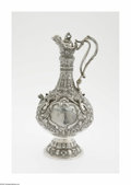Silver Holloware, British:Holloware, An English Silver Pitcher Mark of Martin Hall & Co., Sheffield,England, c.1862 The step footed bulbous form pitcher wit...