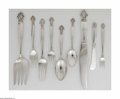 Silver Flatware, Continental:Flatware, A Danish Silver Flatware Set Mark of Georg Jensen, Copenhagen,Denmark, c.1917 The 'Acanthus' set includes twelve dinner... (83Items)