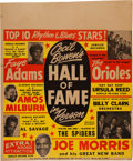 Music Memorabilia:Posters, Faye Adams/Orioles Top 10 Rhythm & Blues Concert Poster (1954). Extremely Rare. ...