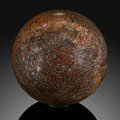 Lapidary Art:Boxes, Dinosaur Bone Sphere. Stone Source: Jurassic. MorrisonFormation. Wyoming, USA. ...