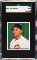 Baseball Cards:Singles (1950-1959), 1950 Bowman Emil Leonard #170 SGC 98 Gem 10 - Pop One! ...