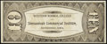 Obsoletes By State:Iowa, Shenandoah, IA- Western Normal College and Shenandoah Commercial Institute $10 ND (ca. 1885-91). ...