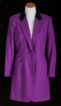 American:Academic, A Zsa Zsa Gabor Group of Clothing, 1980s-1990s.. Three totalincluding: 1) a riding jacket, purple wool, black velvet collar...(Total: 3 Items)