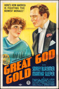 "Movie Posters:Crime, Great God Gold (Monogram, 1935). One Sheet (27"" X 41""). Crime.. ..."
