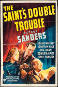 "Movie Posters:Mystery, The Saint's Double Trouble (RKO, 1940). One Sheet (27"" X 41"").Mystery.. ..."
