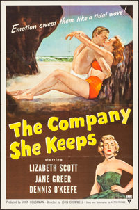 "The Company She Keeps (RKO, 1951) Folded, Very Fine-. One Sheet (27"" X 41""). Drama"