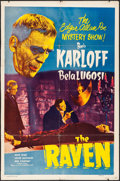 """Movie Posters:Horror, The Raven (Realart, R-1948). One Sheet (27"""" X 41""""). Horror.. ..."""