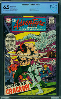 Adventure Comics #372 - CBCS CERTIFIED (DC, 1968) CGC FN+ 6.5 Off-white to white pages