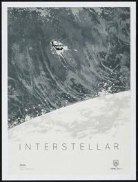 """Interstellar (Paramount, 2014). IMAX Exclusive Poster (12"""" X 16"""") Tidal Wave Style. Science Fiction"""