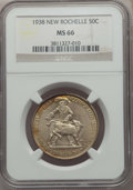 Commemorative Silver, 1938 50C New Rochelle MS66 NGC. NGC Census: (557/109). PCGS Population: (1059/224). MS66. Mintage 15,266. ...