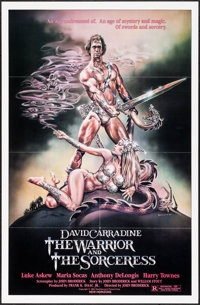 """The Warrior and the Sorceress & Others Lot (Columbia, 1984). One Sheets (3) (27"""" X 40"""" & 27&qu..."""