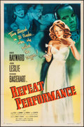 "Movie Posters:Mystery, Repeat Performance (Eagle Lion, 1947). One Sheet (27"" X 41"").Mystery.. ..."