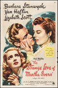 "Movie Posters:Film Noir, The Strange Love of Martha Ivers (Paramount, 1946). One Sheet (27""X 41""). Film Noir.. ..."