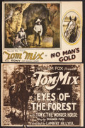 "Movie Posters:Western, Eyes of the Forest & Other Lot (Fox, 1923). Overall: Fine+.Trimmed Title Lobby Card (10"" X 13"") & Trimmed Lobby Card(9.75""... (Total: 2 Items)"