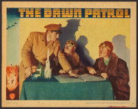 "The Dawn Patrol (Warner Brothers, 1938). Linen Finish Lobby Card (11"" X 14""). War"