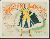 """The Adventures of Robin Hood (Warner Brothers, R-1942). Title Lobby Card (11"""" X 14""""). Swashbuckler"""