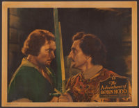 "The Adventures of Robin Hood (Warner Brothers, 1938). Linen Finish Lobby Card (11"" X 14""). Swashbuckler"