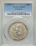 Commemorative Silver, 1939-S 50C Arkansas MS65 PCGS. PCGS Population: (242/136). NGC Census: (174/73). CDN: $450 Whsle. Bid for problem-free NGC/...
