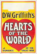 """Movie Posters:Drama, Hearts of the World (Paramount, 1918). Locally Produced One Sheet(28"""" X 41"""").. ..."""