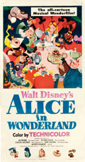 "Movie Posters:Animation, Alice in Wonderland (RKO, 1951). Three Sheet (41.5"" X 79.75"").. ..."