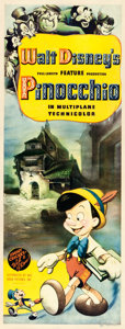 "Movie Posters:Animation, Pinocchio (RKO, 1940). Insert (14"" X 36"").. ..."
