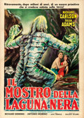 "Movie Posters:Horror, Creature from the Black Lagoon (Universal International, 1954).Italian 2 - Fogli (39.25"" X 55"") Edmondo De Amicis Artwork...."