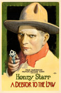 "Movie Posters:Western, A Debtor to the Law (Pan American, 1919). One Sheet (27"" X 40.5"")Portrait Style.. ..."