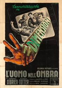 "Man in the Dark (Columbia, 1953). Italian 4 - Fogli (55"" X 77"") 3-D Style, Anselmo Ballester Artwork"