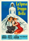 "The Bride is Much Too Beautiful (Titanus, 1958). Italian 2 - Fogli (39"" X 55"")"