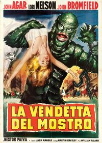 "Revenge of the Creature (Universal International, 1955). Italian 4 - Fogli (55"" X 77"")"