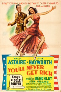 """You'll Never Get Rich (Columbia, 1941). One Sheet (26.75"""" X 40"""") Style C"""
