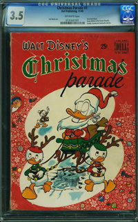 Dell Giant Comics Christmas Parade #1 (Dell, 1949) CGC VG- 3.5 OFF-WHITE pages