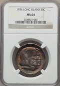 Commemorative Silver, 1936 50C Long Island MS64 NGC. NGC Census: (2039/1678). PCGS Population: (2507/2089). CDN: $85 Whsle. Bid for problem-free ...