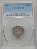 """Bust Dimes: , 1832 10C XF45 PCGS. EX: """"E.B. Strickland Collection"""". PCGS Population: (49/301). NGC Census: (10/234). Mintage 522,500. ..."""