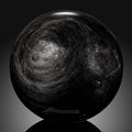 Lapidary Art:Eggs and Spheres, Obsidian Sphere. Stone Source: Mexico. ...