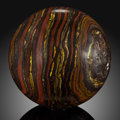 Lapidary Art:Eggs and Spheres, Tiger Iron Sphere. Stone Source: Ord Ranges. Pilbara.Western Australia. ...