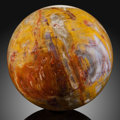 Lapidary Art:Eggs and Spheres, Petrified Conifer Sphere. Stone Source: Araucarioxylon.Triassic. Chinle Formation. Arizona, USA. ...
