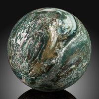Petrified Wood Sphere Stone Source: Araucarioxylon Triassic Chinle Formation
