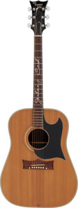 Music Memorabilia:Instruments , Johnny Cash Owned and Stage-Played Grammer Signature Prototype Acoustic Guitar....