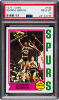 Basketball Cards:Singles (1970-1979), 1974 Topps George Gervin #196 PSA Gem Mint 10 - Pop Four....