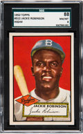 Baseball Cards:Singles (1950-1959), 1952 Topps Jackie Robinson #312 SGC 88 NM/MT 8....
