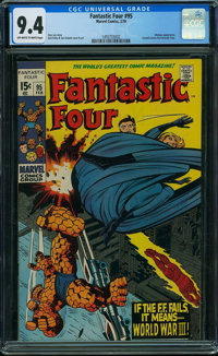Fantastic Four #95 (Marvel, 1970) CGC NM 9.4 OFF-WHITE TO WHITE pages