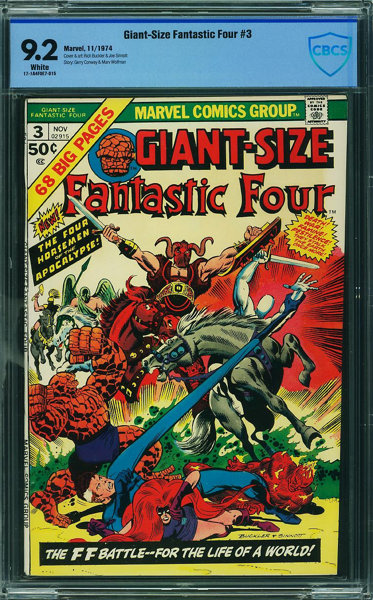 Giant-Size Fantastic Four #3 - CBCS CERTIFIED (Marvel, 1974) CGC NM- 9 2  White pages
